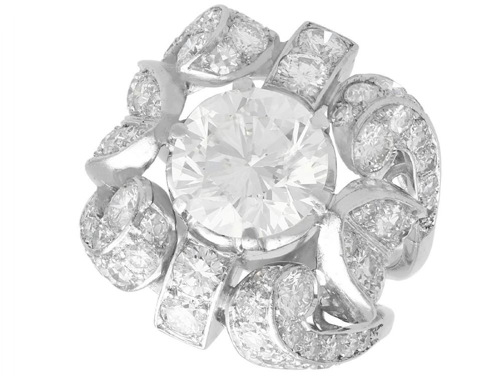 608ct diamond and platinum dress ring art nouveau antique circa 1930