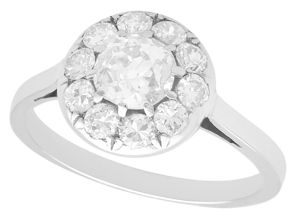 184 ct diamond and platinum cluster ring antique circa 1920