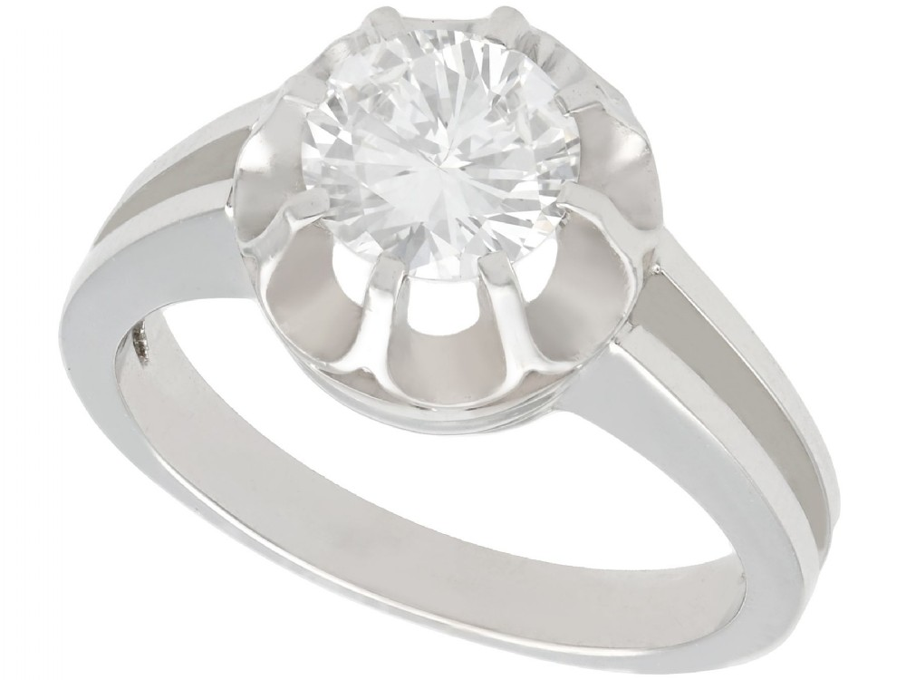 105ct diamond and 18ct white gold solitaire ring antique circa 1930