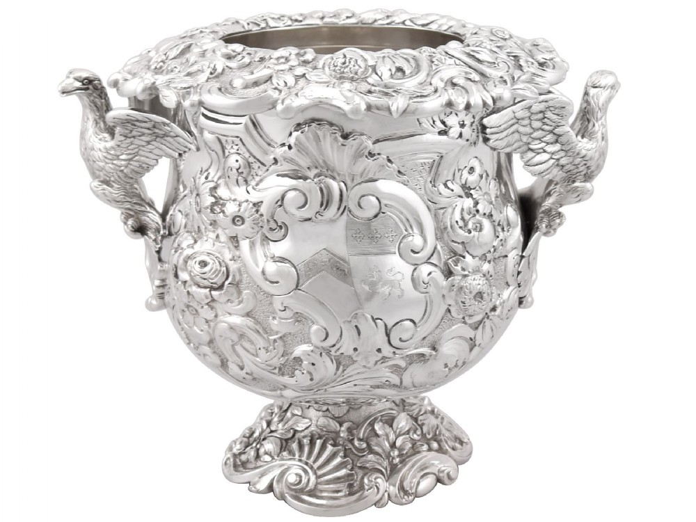 sterling silver wine cooler antique george iii