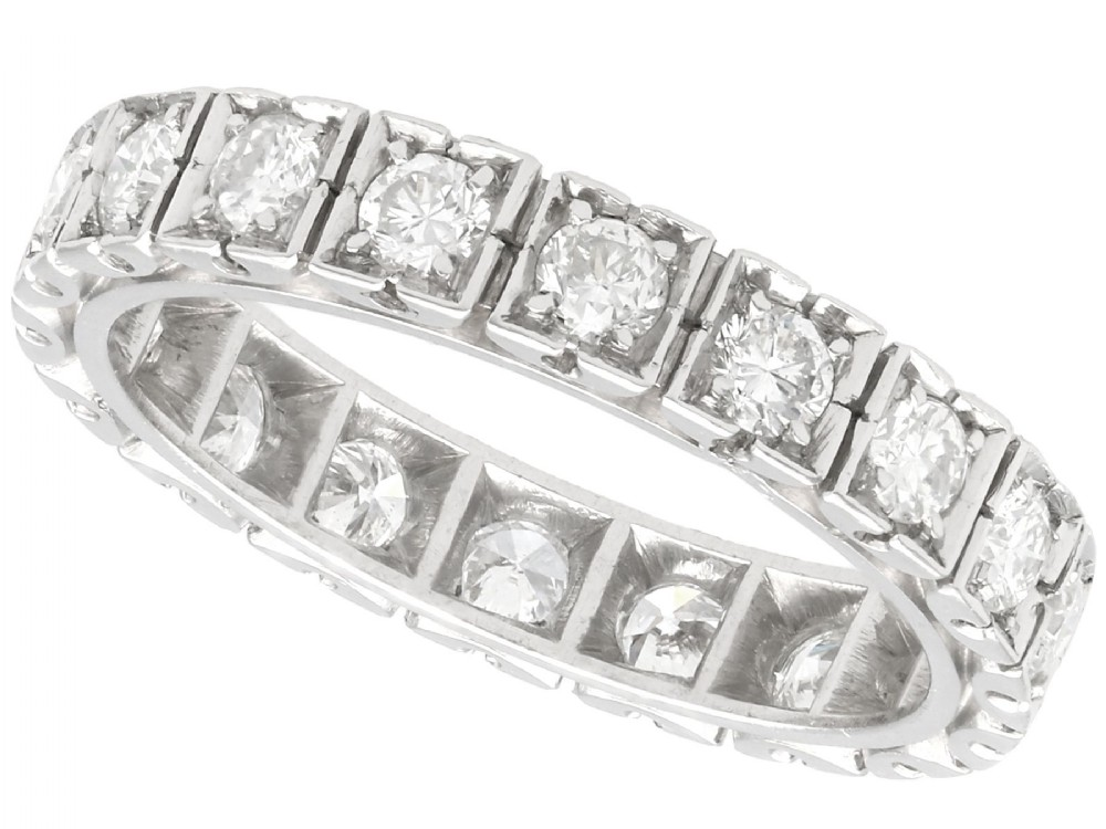 162ct diamond and 18ct white gold full eternity ring vintage french circa 1940