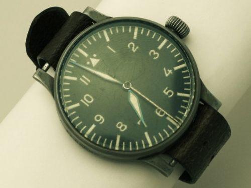 wempe world war ii luftwaffe beobachtungsuhr pilot's wrist watch vintage circa 1941