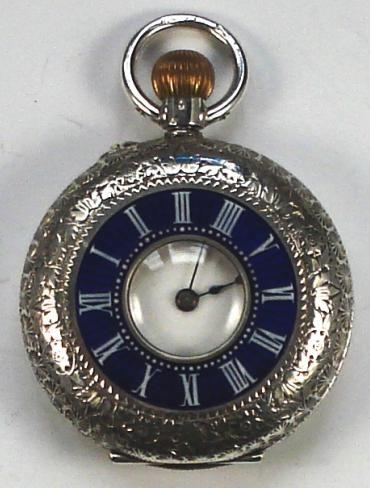 272fdcb98 Ladies Small Swiss Silver Half Hunter Pocket Watch | 536315 ...