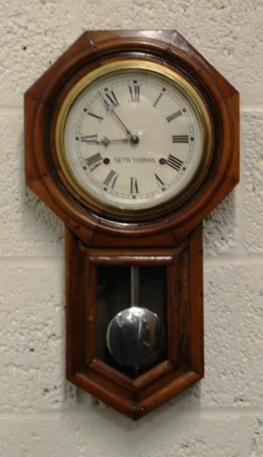 american 'seth thomas' striking wall clock