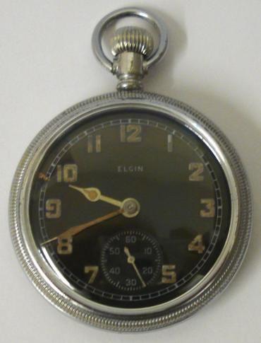 elgin american military ww2 pocket watch
