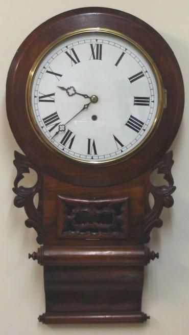 american ansonia 8 day wall clock time piece