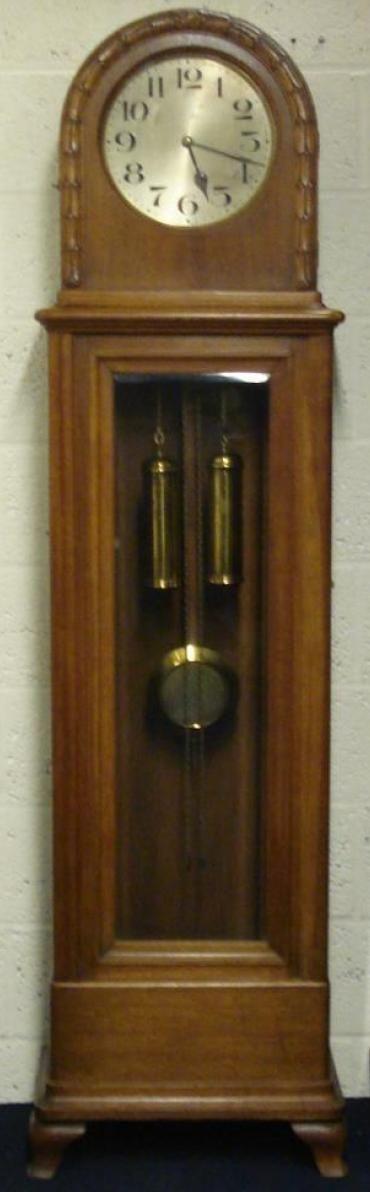 light oak cased 8 day longcase grandfather clock