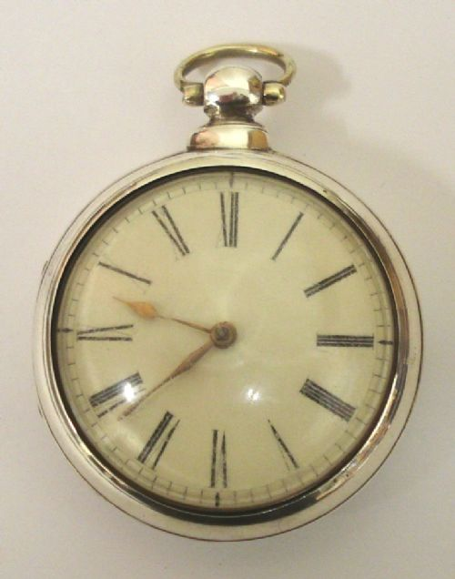 english silver pair case verge fusee pocket watch