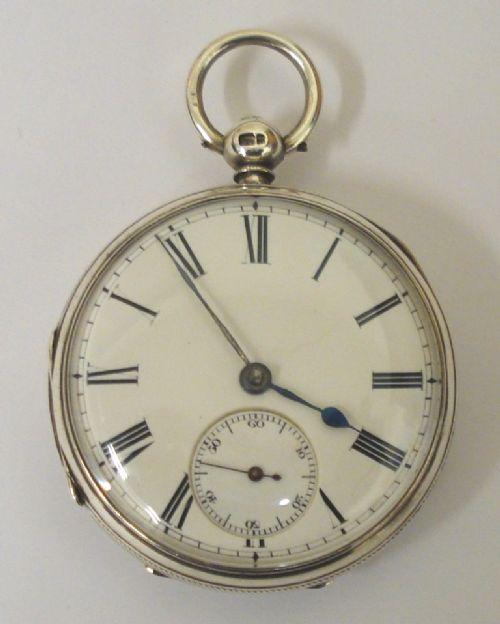 english silver fusee key wind pocket watch