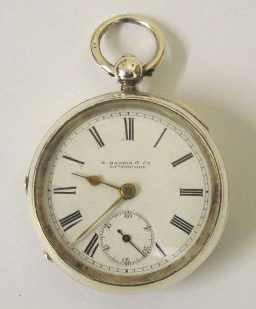 english lever pocket watch by eharris liverpool