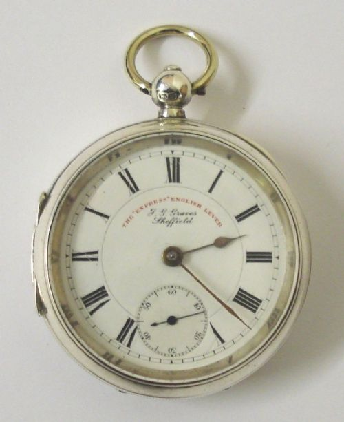 english lever pocket watch by jggraves sheffield