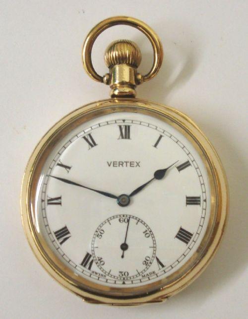 swiss vertex pocket watch in a dennison case