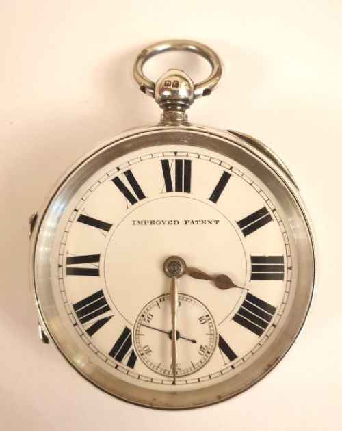 large english silver cased pocket watch