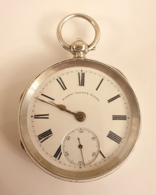 english silver cased pocket watch by newsome