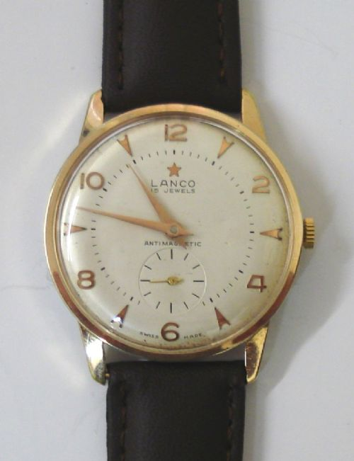 lanco swiss manual wind wrist watch