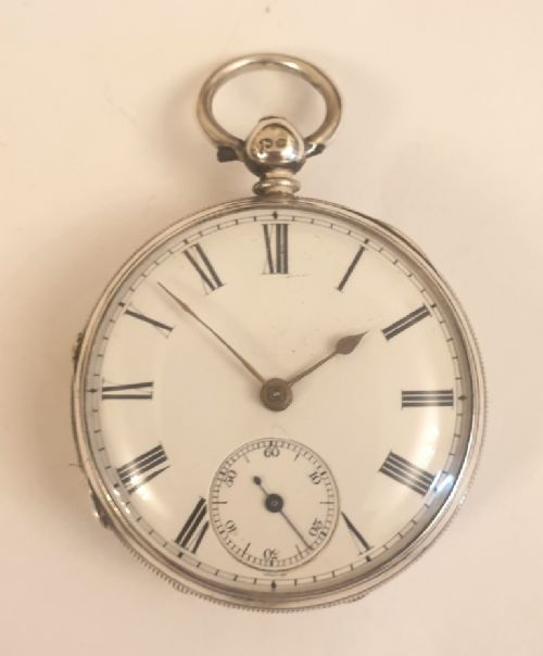 english silver cased fusee key wind pocket watch