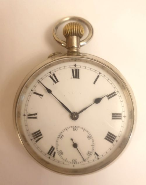 swiss silver plated pocket watch by baume and co