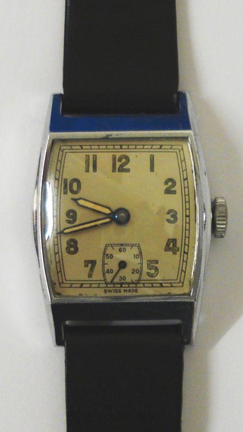 vintage swiss made manual wind wrist watch