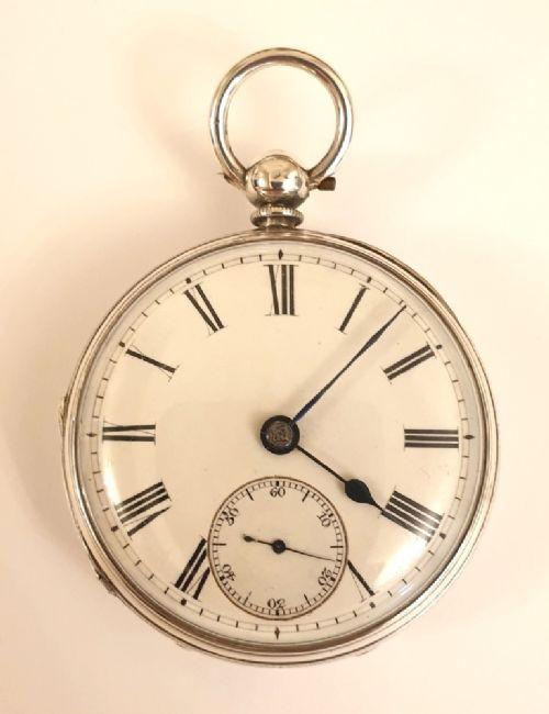 english silver cased fusee key wind pocket watch