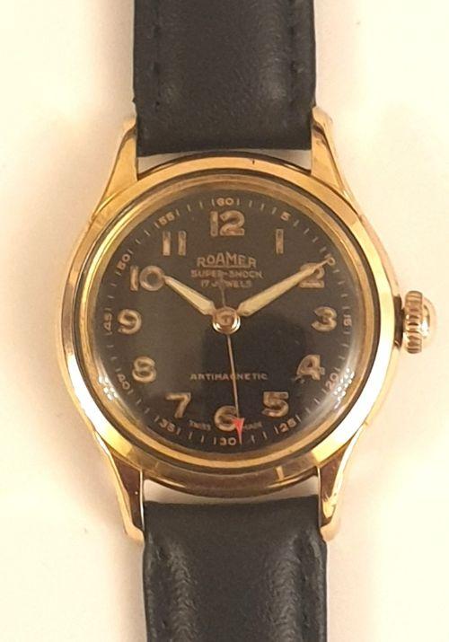 swiss roamer manual wind mid size wrist watch