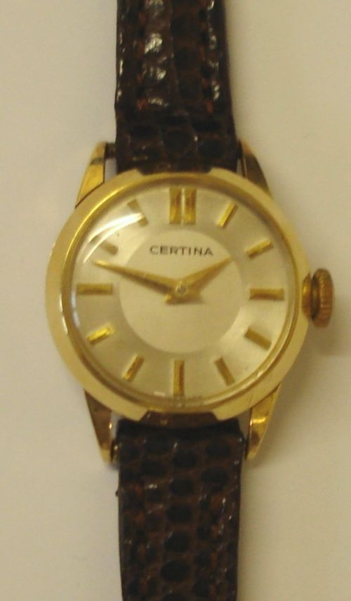 swiss made ladies certina wrist watch