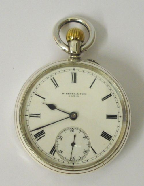 english silver cased pocket watch wbryer sons