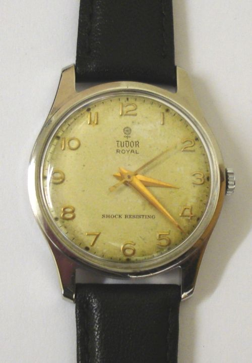 gents tudor royal stainless steel wrist watch