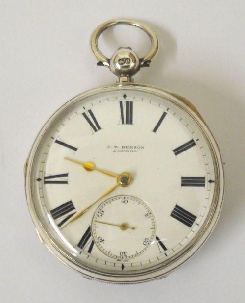 english silver fusee pocket watch by jwbenson