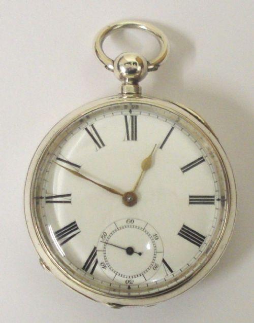 waltham silver cased lever pocket watch