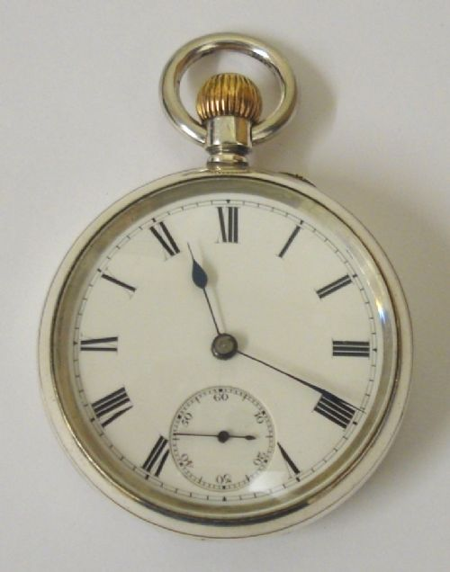 english silver cased 34 plate pocket watch
