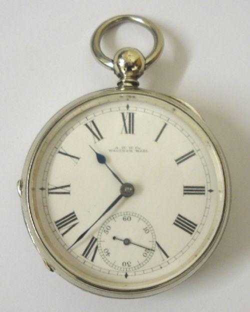 aww co waltham nickel cased pocket watch
