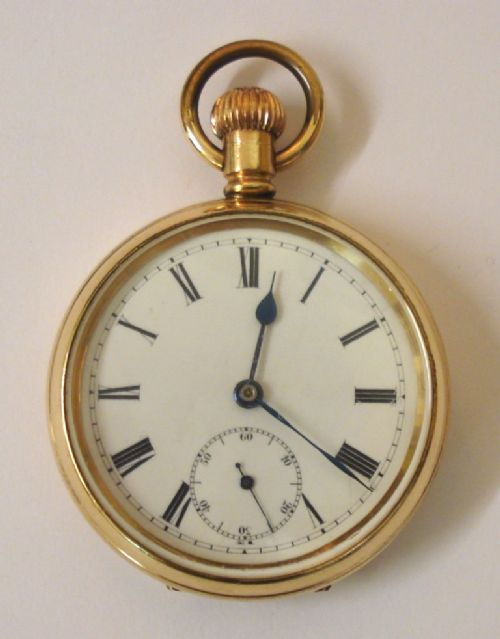 unsigned english gold plated pocket watch