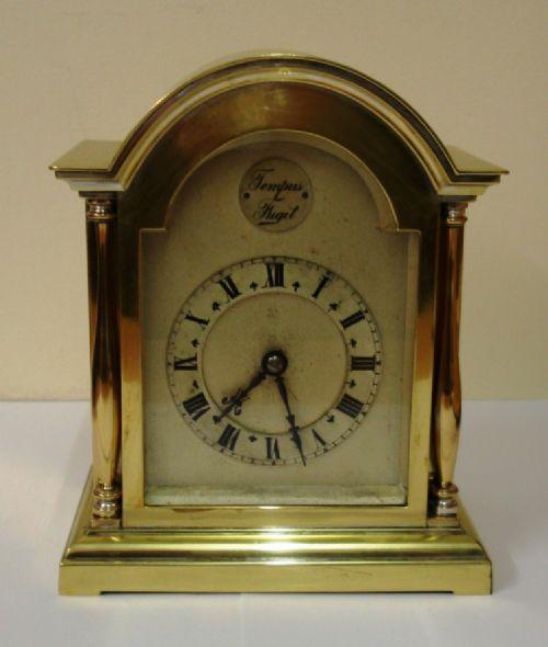 french gilt brass 8 day mantel timepiece