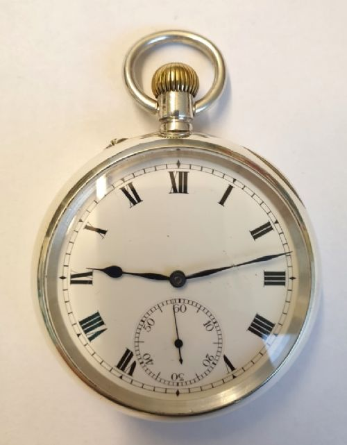 swiss silver cased pocket watch by iwc