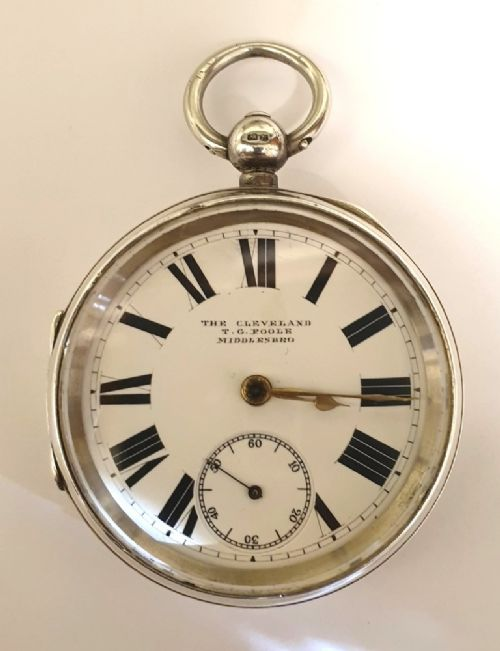 english silver cased pocket watch by the lancashire watch co