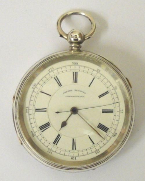 english silver fusee centre seconds chronograph