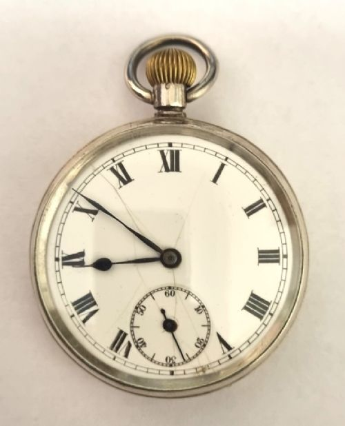 swiss silver cased jewelled lever pocket watch