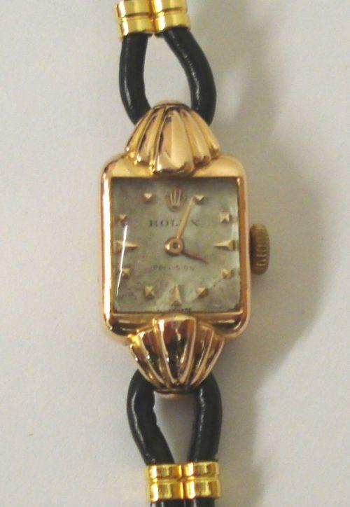 ladies rolex precision 18ct gold wrist watch