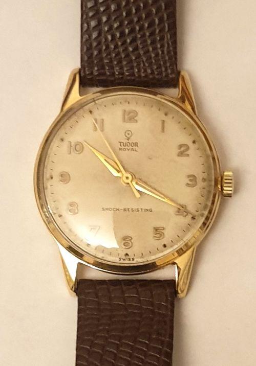 rolex tudor royal 9ct gold presentation watch