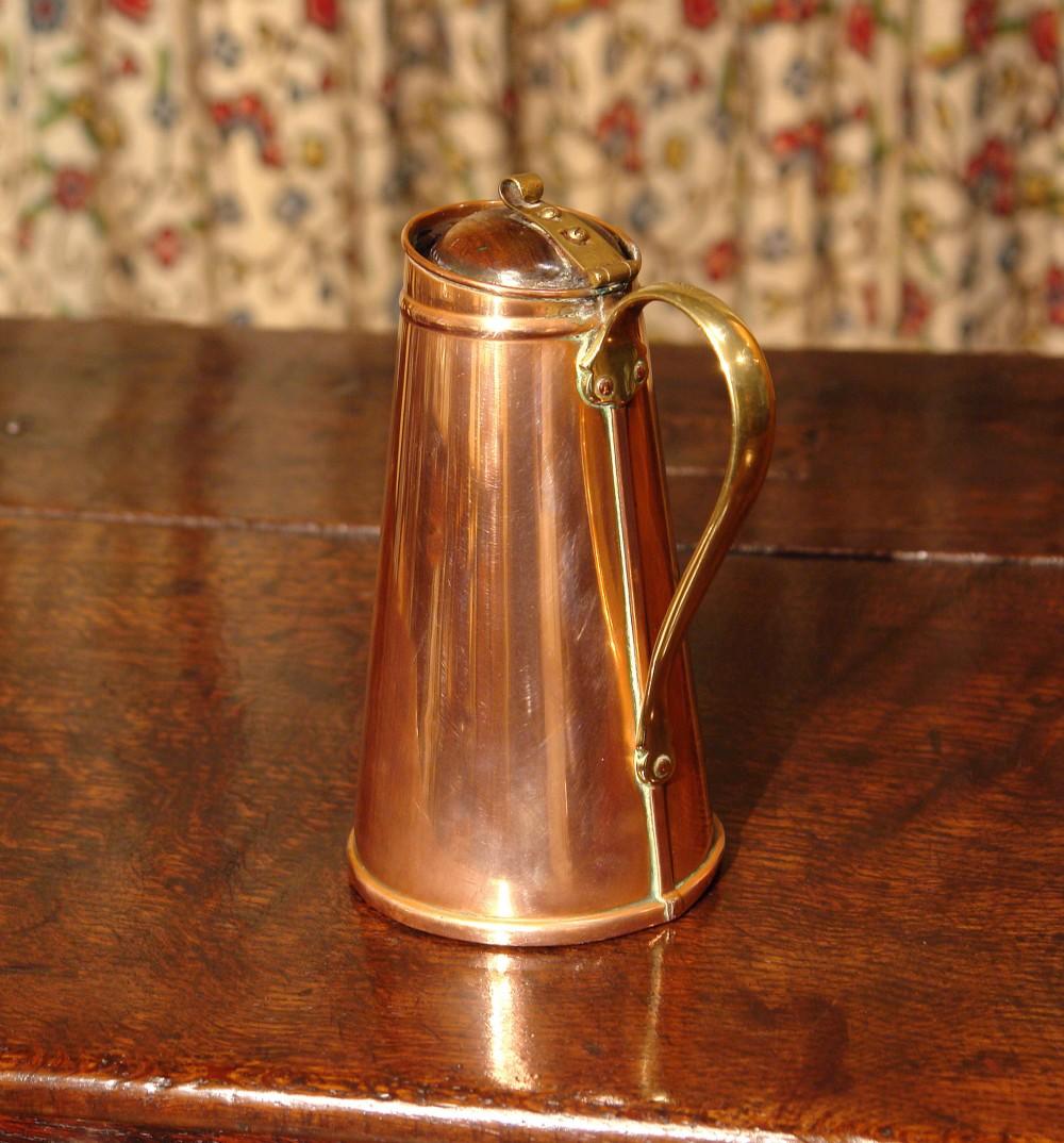 victorian copper flask