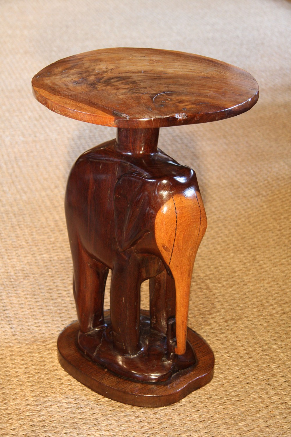 victorian african elephant lamp wine table