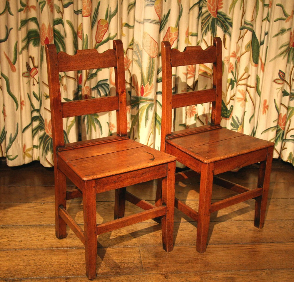 pair of victorian oak kitchen dining chairs
