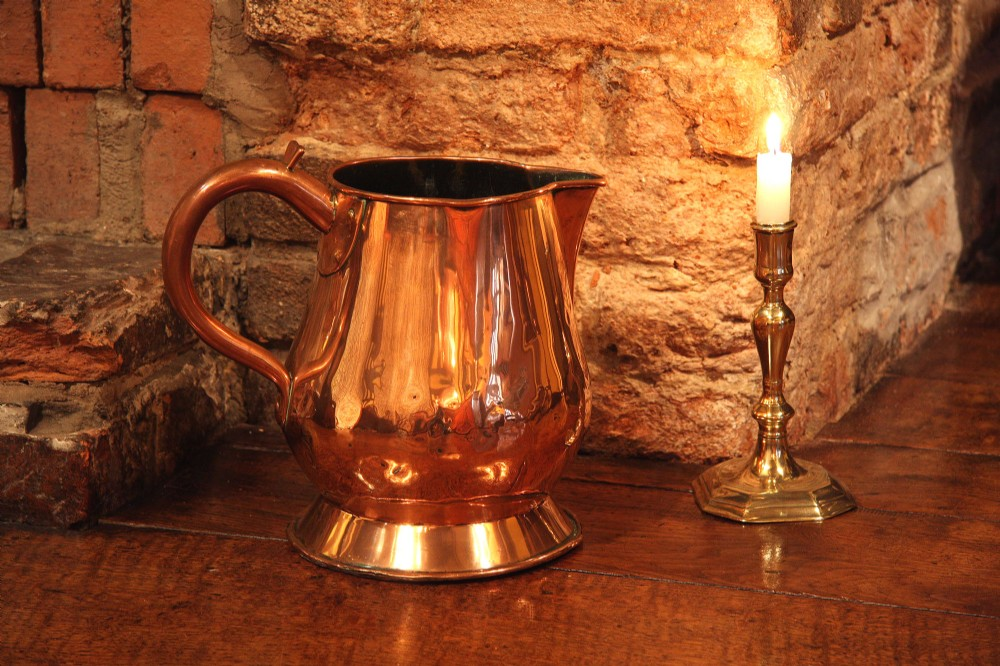 georgian copper ale jug