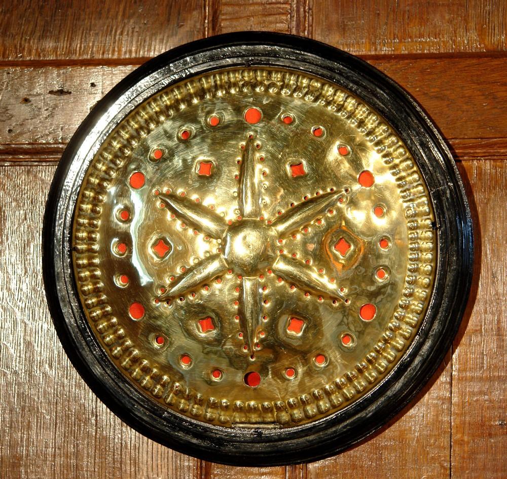 17th century brass warming pan lid