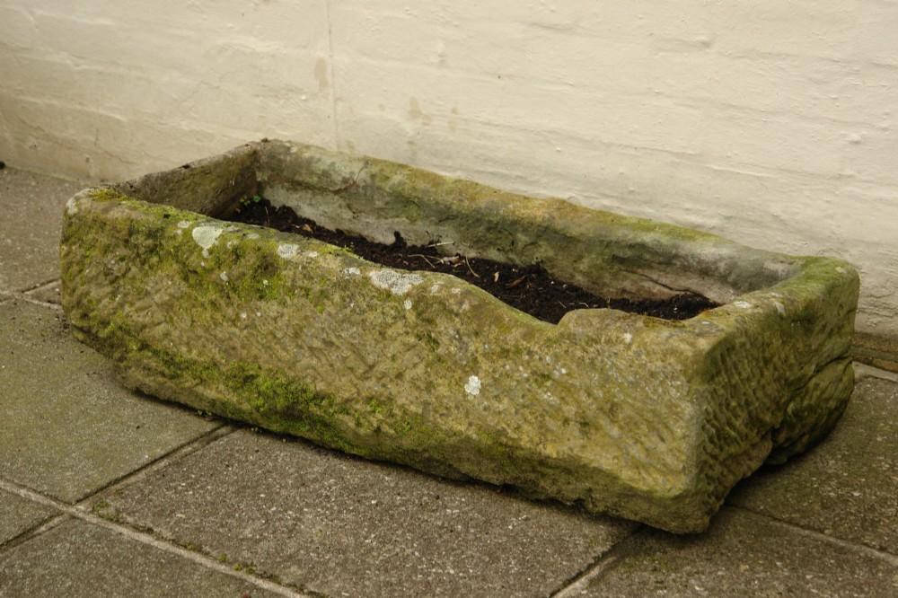 stone trough garden planter