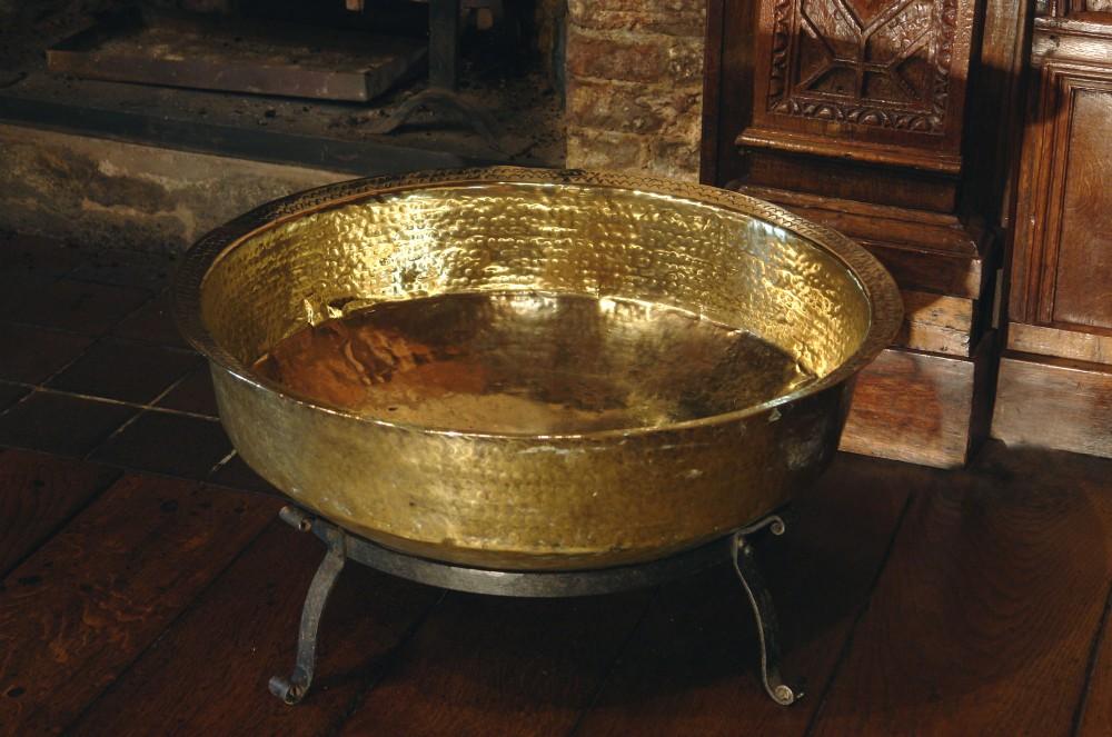 large victorian brass log bin cellarette
