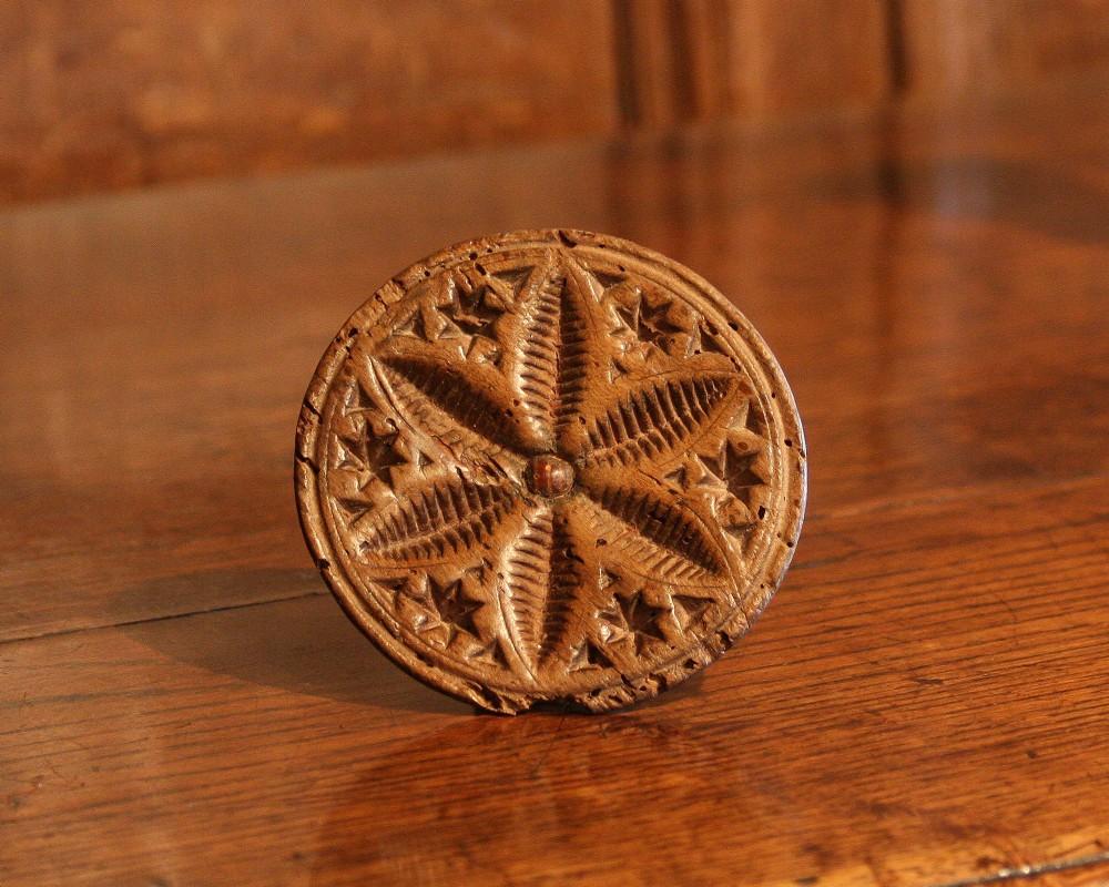 welsh treen butter stamp