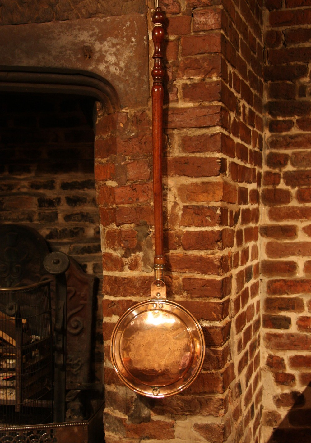 victorian copper bed warmer warming pan