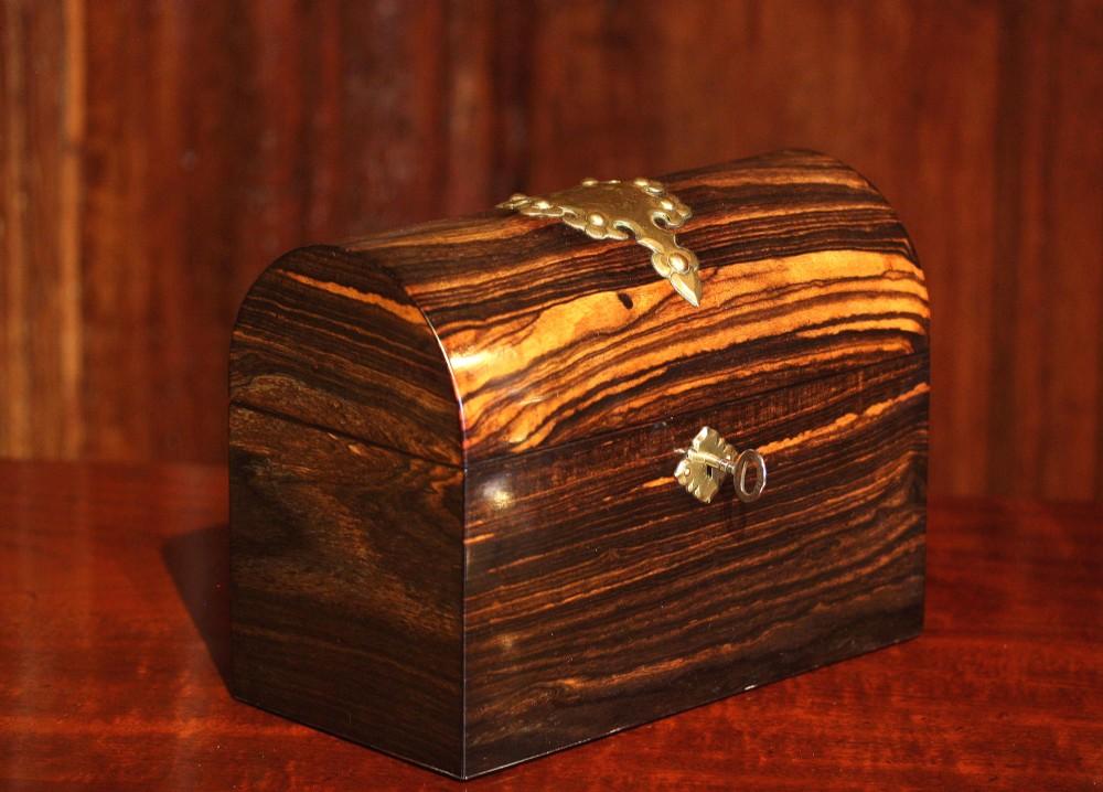 victorian coromandel stationery box