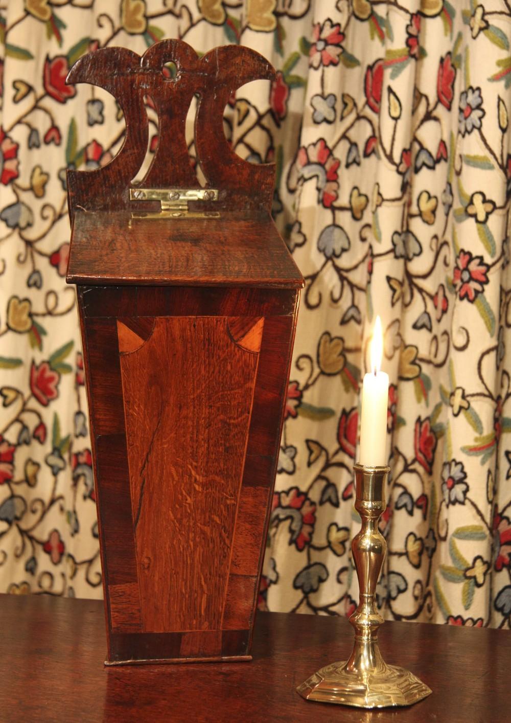 georgian oak candle box cutlery box